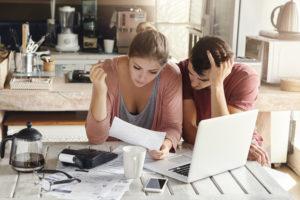 Couple stressed over money